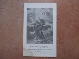 SANTA MARTA Che Si Venera Nella Chiesa Omonima In Via S.Sebastiano Napoli - Devotion Images