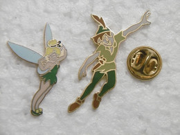 Pin's - BD DISNEY PETER PAN Et La Fée Coclette - Lot De 2 Pins Pin Badges EGF - Disney
