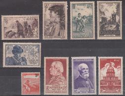 France (1945-46) Y/T N° 737/738 + 740 + 742/743 + 748 + 750/751 Neufs ** - Unused Stamps