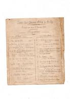 Programme Duconcert Fanfare Des Pompiers De ST Ay 17 Janvier 1909 - Programs