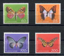 RC 18947 COTE D'IVOIRE COTE 30€ N° 469 / 472 SÉRIE PAPILLON NEUF ** TB - Butterflies