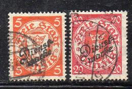 1280 490 - DANZICA 1924 , Servizio Due Valori Usati N. 37 E 41 (M2200) - Dantzig