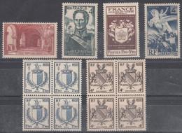 France (1944-45) Y/T N° 661/662 + 668/669 + 734/735 Neufs ** - Unused Stamps
