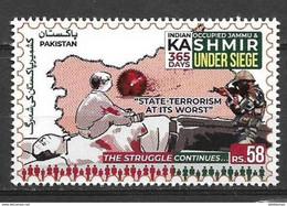 PAKISTAN 2020 STAMPS INDIAN OCCUPIED JAMMU & KASHMIR UNDER SIEGE 365 DAYS MNH - Pakistan