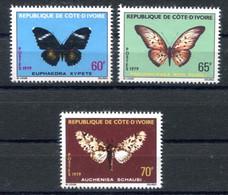 RC 18950 COTE D'IVOIRE COTE 10€ N° 498 / 500 SÉRIE PAPILLON NEUF ** TB - Ivory Coast (1960-...)