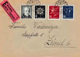 #259. ZPJ105-8, M424-7, Y388-91. Série Complete, 15-03-1944. - Brieven En Documenten