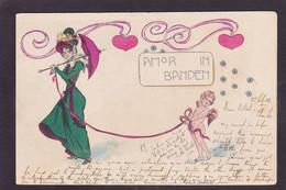 CPA Art Nouveau Femme Women Illustrateur Voir Dos Circulé Signée STARCKE - Mujeres