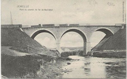 REF2247/ CP Jemelle Pont Du Chemin De Fer De Rochefort Avec Train - Rochefort