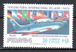 CHILI. N°647 De 1984. Avion. - Flugzeuge