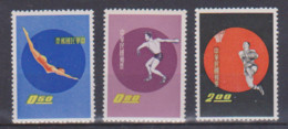 Timbres De Chine Divers Sports 3 Tp  1960 MNH ** - Unclassified