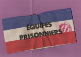 """Brassard """"Equipes Prisonniers"""" Avec Tampon Defense Passive Préfecture Du Nord - 1939-45"""