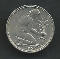 GERMANY 50 Pfennig 1950 F  Pieb 24713 - 50 Pfennig