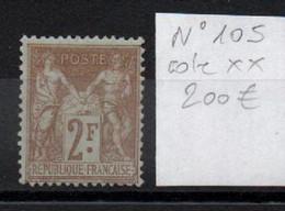 France YT 105 ** MNH Cote 200 € Sage - 1876-1898 Sage (Type II)