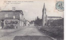 Cpa 2178 AMBES PLACE DE L HOTEL DE VILLE 1905 - Sonstige Gemeinden