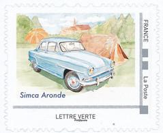 FRANCE SIMCA ARONDE Neuf**. Voitures Et Vacances.Clocher, Tente... - Coches