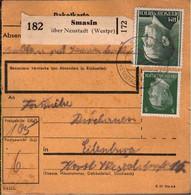 ! 1943 Smasin über Neustadt, Westpreußen Nach Eilenburg, Paketkarte, Deutsches Reich, 3. Reich - Brieven En Documenten