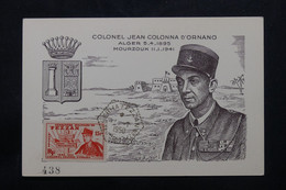 FEZZAN - Carte Maximum En 1950 - Colonel Colonna D'Ornano - L 75551 - Lettres & Documents