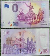 BILLETE TURISTICO Euro Souvenir De DON QUIJOTE Y SANCHO PANZA - Non Classificati