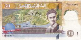 BILLETE DE TUNEZ DE 30 DINARS DEL AÑO 1997  (BANK NOTE) - Tusesië