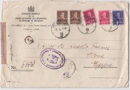REGISTERED COVER BUCAREST - ROMANIA - 1942 - Storia Postale Seconda Guerra Mondiale