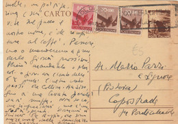 INTERO POSTALE 1947 3 L.+80 C. +2X10 C. TIMBRO BOLOGNA FIERA DI  MILANO (XM208 - Postwaardestukken