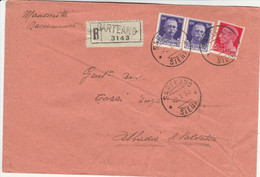 RACCOMANDATA 1932 2X50+20 C. TIMBRO SARTEANO SIENA ABBADIA S.SALVATORE (XM443 - Storia Postale