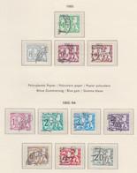 BELGIUM USED COB TX 66P7/62P7 LION HERALDIQUE - Stamps