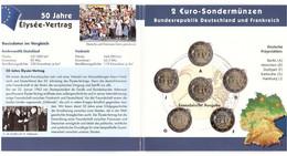Germany - Set 5 X 2 Euro 2013 UNC In Folder Elysee-Vertrag Comm. - Germany