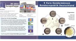 Germany - Set 5 X 2 Euro 2015 UNC In Folder 30 Jahre Europaflagge Comm. - Germany