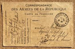 Carte Postale Franchise Postale Militaire Guerre De 1914 Pour Lons Oblitération Trésor Et Pöstes 161 1917 - Oorlog 1914-18
