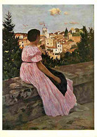 Art - Peinture - Jean Frédéric Bazille - La Robe Rose - CPM - Voir Scans Recto-Verso - Paintings