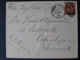 USA - 1891 - Letter From NY To Copenhag - Scott N° 223 - TB - Briefe U. Dokumente