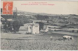 D58 - ALLIGNY EN MORVAN - LE CHÂTEAU CHAMPAGNE - Homme - Boeufs Labourage - LE MORVAN ILLUSTRE - Other Municipalities