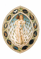 Art - Peinture - Les Très Riches Heures Du Duc De Berry - Pol De Limbourg - L'homme Zodiacal, XVe Siècle - Musée Condé D - Peintures & Tableaux