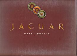 Dépliant Brochure Voiture  Jaguar Mark 2 Models  Langue Anglaise   Intérieur Et Moteur 2 Modèles 2,4 Litre  & 3,4 Litre - Transporte