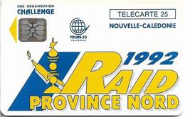 New Caledonia - Raid Province Nord '92, NC-005, SC5, 08.1992, 25Units, 2.000ex, Used - Neukaledonien