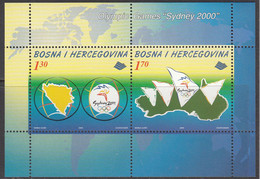 2000 Bosnia Sydney Olympics  Souvenir Sheet MNH - Bosnie-Herzegovine