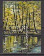 2001 Bosnia Bridges Swans Europa Souvenir Sheet MNH - Bosnia Herzegovina
