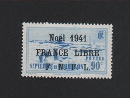 Faux N° 220 (B), Saint-Pierre Et Miquelon 90 C Surchargé Gomme Sans Charnière - Ungebraucht