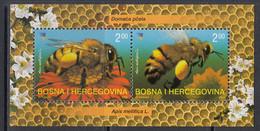 2004 Bosnia Bees Souvenir Sheet MNH - Bosnia Herzegovina
