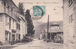 Soueix-1949-mairie Et Avenue De St.Girons - Other Municipalities