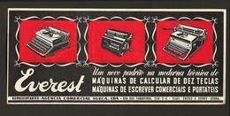 PUBLICIDADE Maquinas Escrever - Rua Dos Fanqueiros LISBOA. Vintage Advertise TYPEWRITER EVEREST Blotter Buvard PORTUGAL - Zonder Classificatie