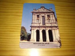 "Portuguese Pocket Calendar  "" Mosteiro De Grijó ""   Advertising V. N. De Gaia - Small : 1981-90"