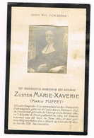 Ciney - Champion - Diest - Bidprentje Van Zuster Marie-Xaverie + 1913 - Religion & Esotericism