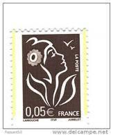 Lamouche 0.05 € Brun ITVF TYPE II YT 3754b Avec 2 Bandes De Phosphore ( Demi Bandes ) Par Décalage . Voir Le Scan . - Variedades: 2000-09 Nuevos