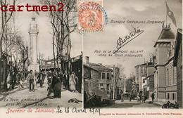 SOUVENIR DE SAMSOUN CACHET ASKITIDES BANQUE IMPERIAL OTTOMANE TOUR HORLOGE MEÏDAN BAZAR ADAMANTIOS TCHOHATARIDES TURKEY - Türkei