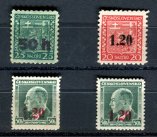 Germany Sudetenland Asch Mint Stamps. Mi 1, 3 And 4a. MH - Sudetes