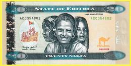 Billet De Banque Neuf - Bank Of Eritrea - 20 Nakfa Twenty Nakfa - N° 291641 - ÉRYTHRÉE 2012 - Eritrea