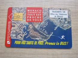Chip Phonecard, Bird View Of Monaco,used - Mónaco