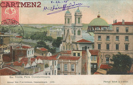 CONSTANTINOPLE SAINTE-TRINITE A PERA TURQUIE TURKEY MAX FRUCHTERMANN STAMP OBLITERATION SEBAH § JOAILLIER - Turkey